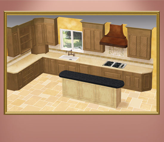 Kitchen Finishes Photo Illustration