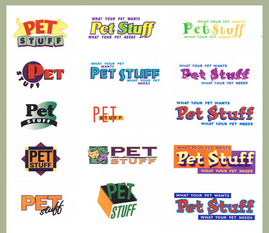 Pet Stuff Logo Exploration