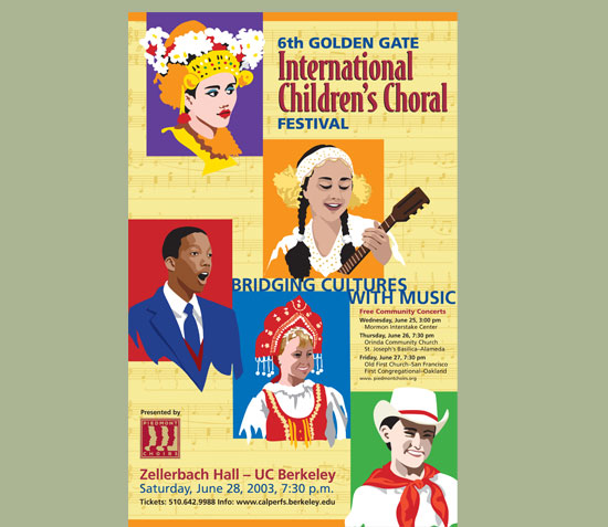 International Children's Choral Poster Design