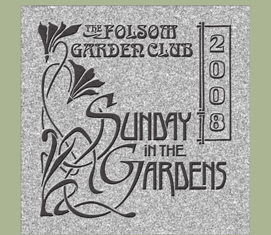 Sunday in the Gardens Plaque Design